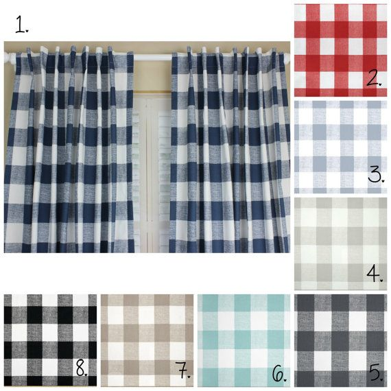 17 Best ideas about Plaid Curtains on Pinterest | Buffalo check ...