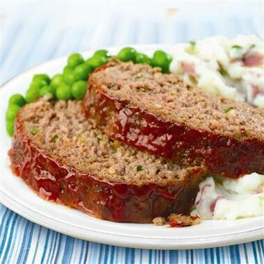 Meatloaf - Pinning this for the next time I forget how long to cook a 2 lb meatloaf. Cook at 350 for about an hour.