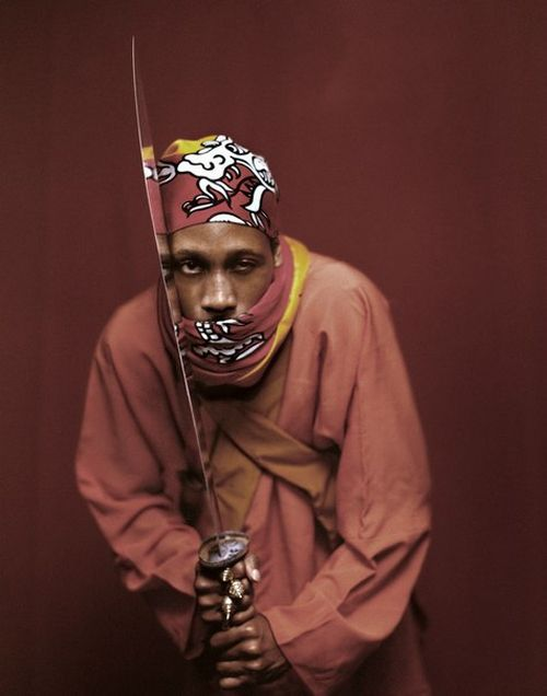 rza wu-tang clan sword pose bandana / role model / samurai soul