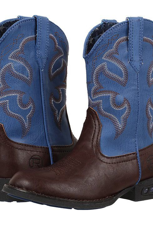 Roper Kids Lightning (Toddler/Little Kid) (Brown/Blue) Cowboy Boots - Roper Kids, Lightning (Toddler/Little Kid), 09-018-1201-1233BR-200, Footwear Boot Western, Western, Boot, Footwear, Shoes, Gift, - Fashion Ideas To Inspire