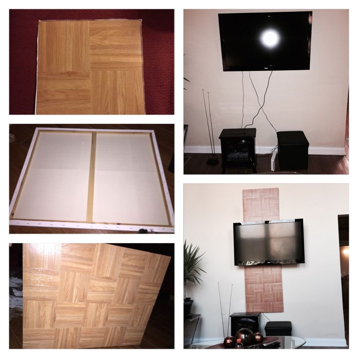 Creative Way To Hide Tv Cords Using Two Canvas Boards