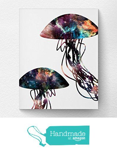 Jellyfish Art Print Poster Decor, Space Print, Ocean Bathroom Art, Nautical Decor, Nebula Art, Boys Bedroom Art, Under the Sea from Lotus Leaf Creations http://www.amazon.com/dp/B01CEYVKT4/ref=hnd_sw_r_pi_dp_15Yaxb0XG2EF8 #handmadeatamazon