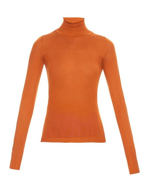 Roksanda Esher stretch-silk roll-neck sweater