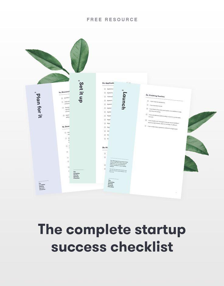 The Complete Startup Checklist, Business Checklist, Startup Essentials,  Business Advice For Entrepreneurs