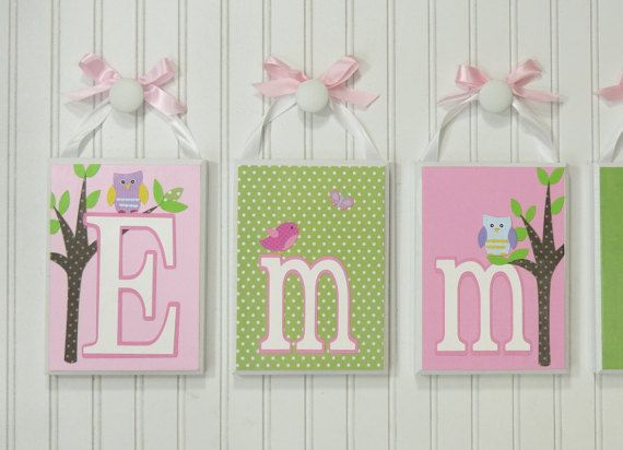 Bedroom Decor Letters 137 best tara's blocks - personalized name block letters - home