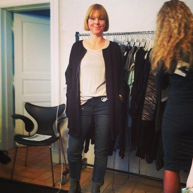 Janne i Delta Jacket, den lækre Diana tee og fede Diamond Jeans.