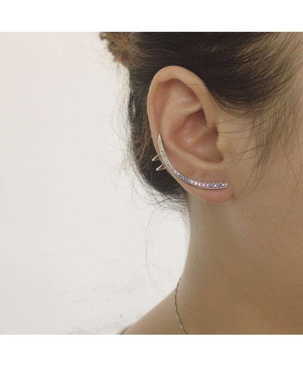edfd92c11bd22 Unicorn Ear Crawler Cuff Sterling Silver Piercing Spike Stud Wrap ...