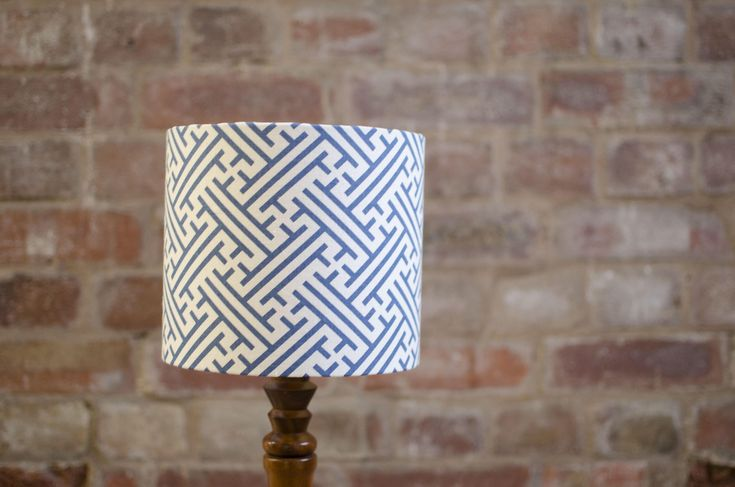Blue lampshade, Geometric lamp shade, Blue home decor, Geometric, Simple lampshade, graphic, lampshade, Modern lamp shade, Blue and white by ShadowbrightLamps on Etsy https://www.etsy.com/uk/listing/589909791/blue-lampshade-geometric-lamp-shade-blue