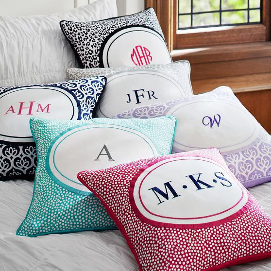 A cute pillow with initials!!