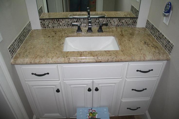 111 best images about decor ideas on pinterest traditional bathroom kitchen backsplash and Granite backsplash for bathroom vanity