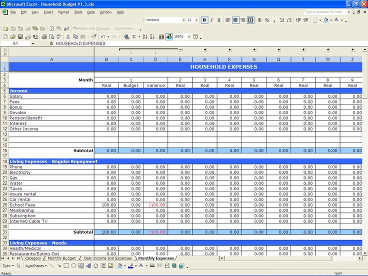 Best 25+ Household budget spreadsheet ideas on Pinterest Budget - home budget spreadsheet