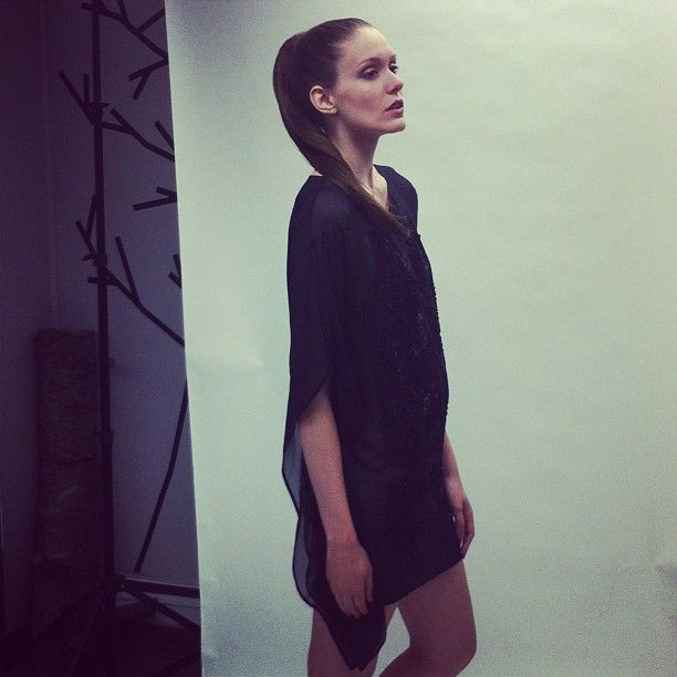 Another peek behind the scenes of today's shoot