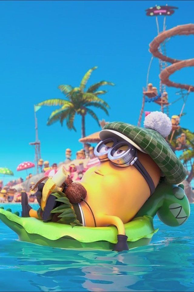Minion Relaxing At The Pool Summer Pinterest