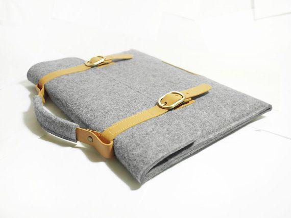 Macbook pro 15 Retina Macbook Sleeve Bag Wool Felt with by TopHome, $52.00