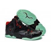 Cheap Nike Lebron 11 Black Red Green Shoes $107.90  http://www.blackonshoes.com