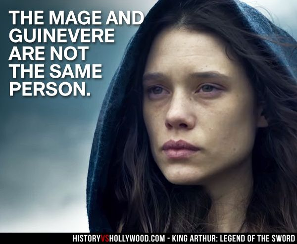 In King Arthur: Legend of the Sword, the Mage and Guinevere are not the same person. Guinevere does not appear in the movie at all. Find out if the movie was based on a real story here: http://www.historyvshollywood.com/reelfaces/king-arthur/ #kingarthur