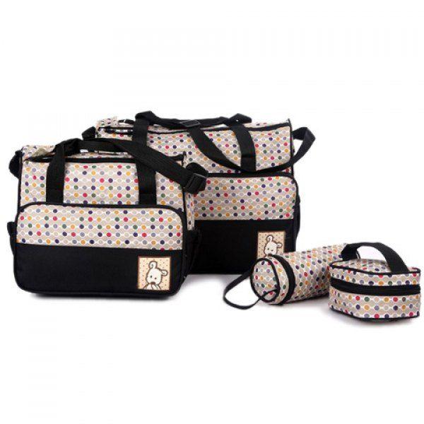 Wholesale Casual Bear Cub and Zipper Design Women's Diaper Bag Only $11.71 Drop Shipping | TrendsGal.com