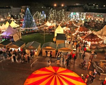 Galway Christmas Market is a Continental style Christmas market in Ireland's bohemian capital.