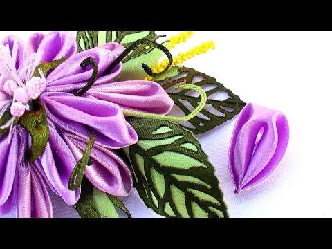 Kanzashi Master Class / New Tab for Flower kanzashi / New flower petal for kanzashi - YouTube