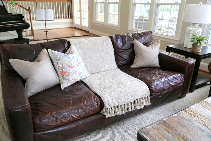 Styling Your Brown Leather Sofa The Decorologist The Decorologist Brown Leather Sofa Living Room Brown Leather Couch Living Room Leather Couches Living Room