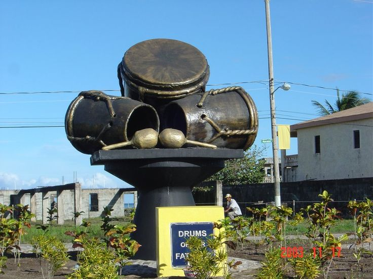 The Drums of our Fathers Monument in Dangriga Belize