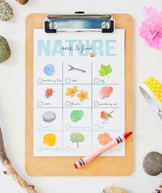 DIY  Toddler Nature Hunt Free Printable - fun activity to do with your littles this spring or summer!