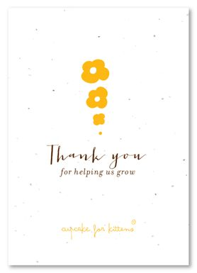 21 best thank you business cards images on pinterest business notes seed to flower plantable business thank you accmission Images