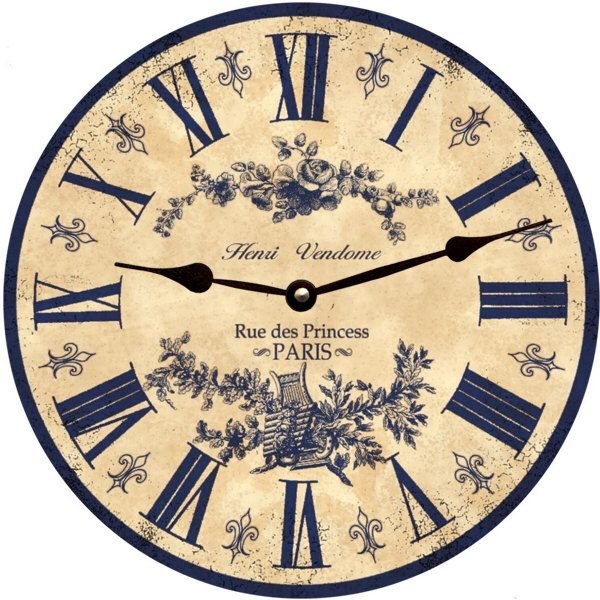 Blue French Toile Clock Etsy In 2020 French Toile Clock French Wall Clock