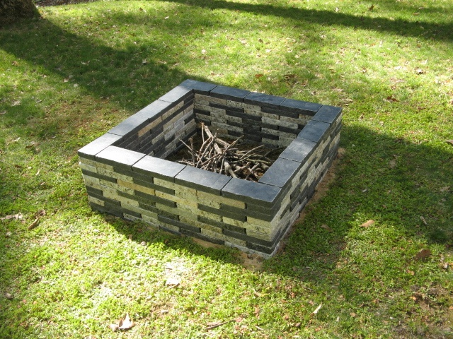 34 best recycled granite paver patios images on pinterest for Do it yourself fire pit designs