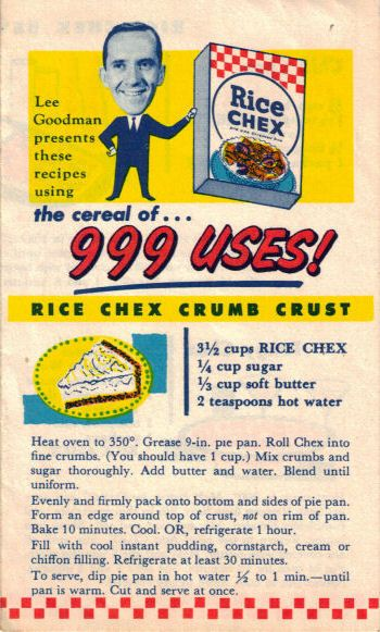 Resource: Vintage Rice Chex Recipes