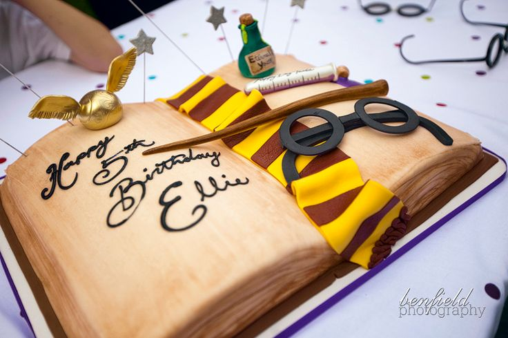 Harry Potter Party Ideas - Harry Potter Book Cake