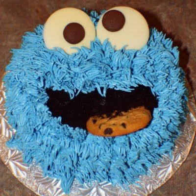 Cookie Monster Smash Cake ::: LOVE THIS!