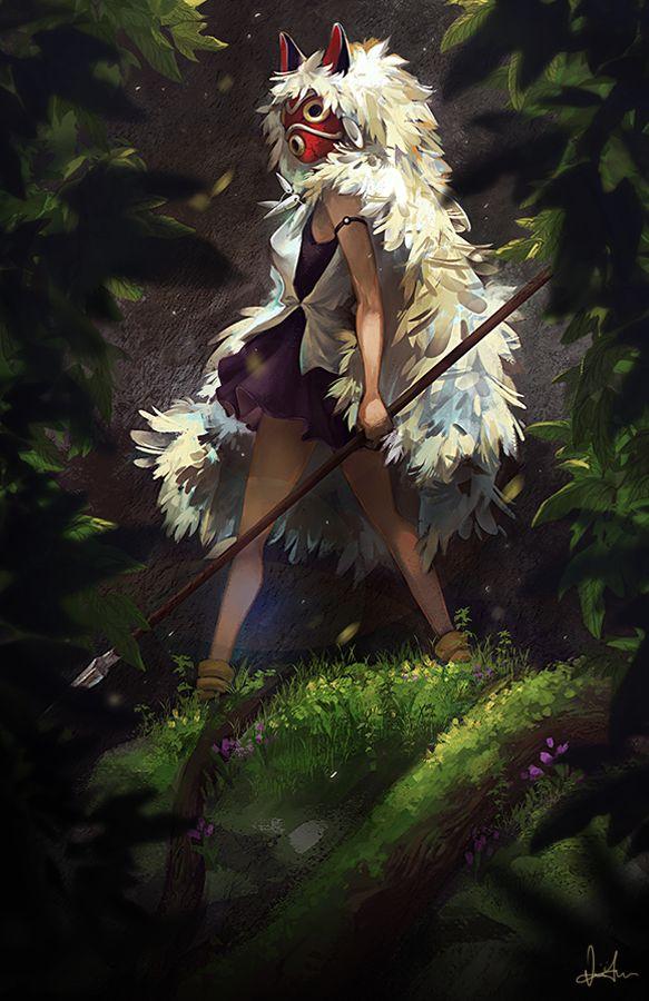 So fierce and beautiful! (Artist einiv. http://einiv.deviantart.com/art/Princess-Mononoke-517242974)