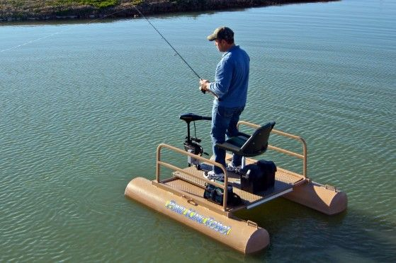 New Pond King Rebel  person pontoon boats :)  Great creek boat idea!