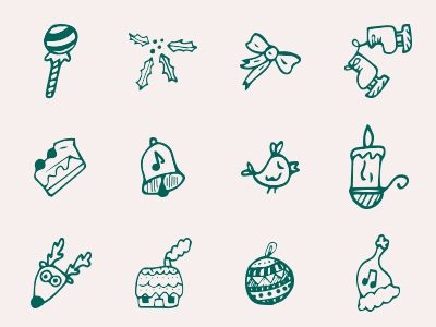 Cute Christmas Icons. Download here: http://goo.gl/s028bM