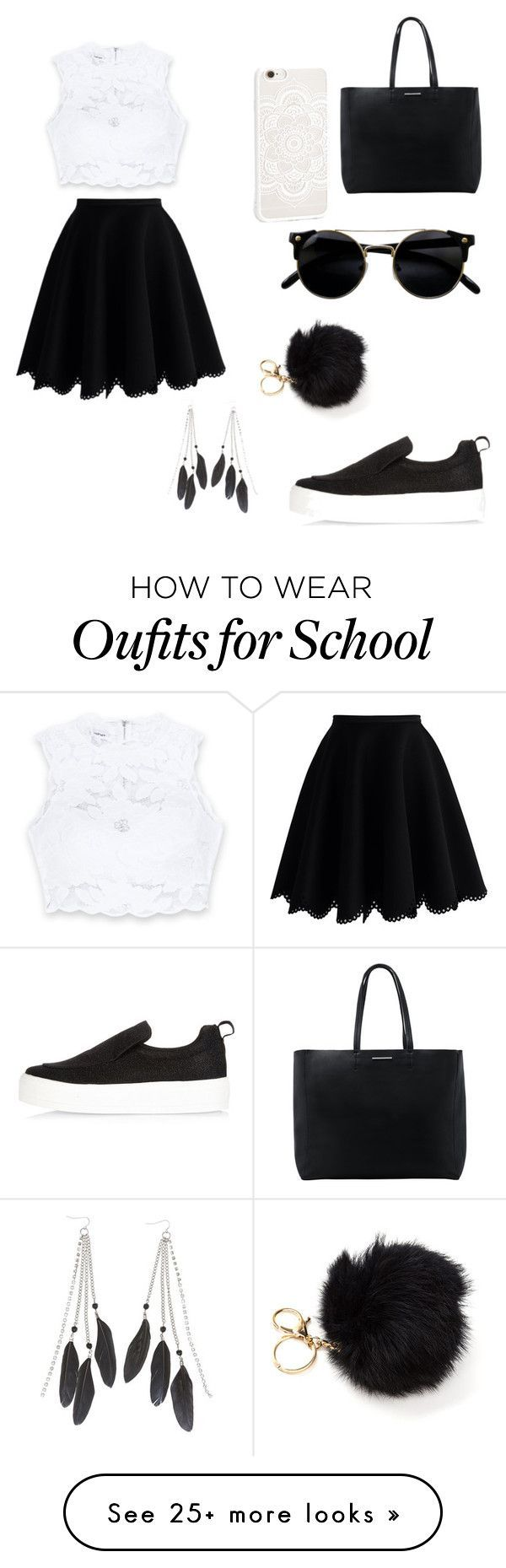 """""""Schools/Students"""" by katrislitvinenko on Polyvore featuring Bebe, Chicwish, MANGO, River Island and Charlotte Russe"""