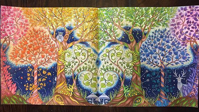 Forest of Love❤️💛💚💙💜 #enchantedforestcoloringbook #johannabasford…