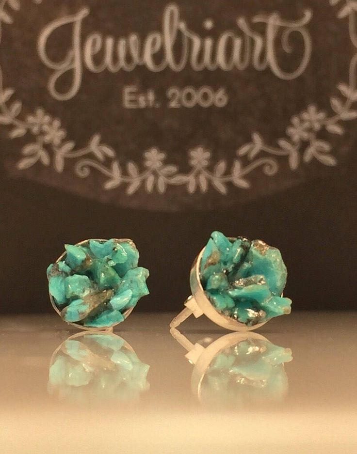A personal favorite from my Etsy shop https://www.etsy.com/listing/526832551/raw-turquoise-earringsupcycled-raw