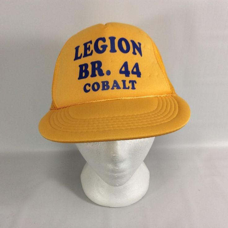 Royal Canadian Legion RCL Branch 44 Snap Back Canada Vintage Trucker Hat 1970s #Unbranded #TruckerHat