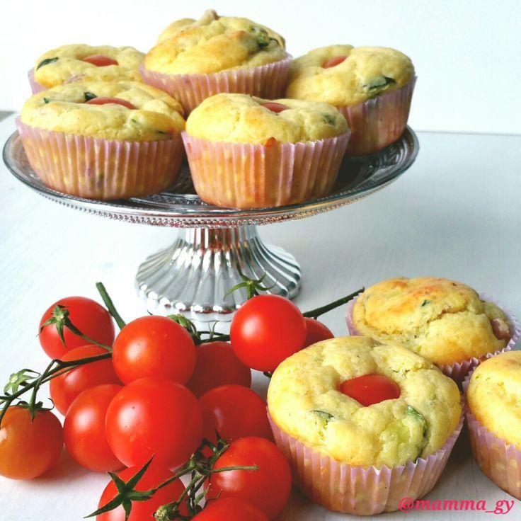 Muffin salati ricotta e zucchine