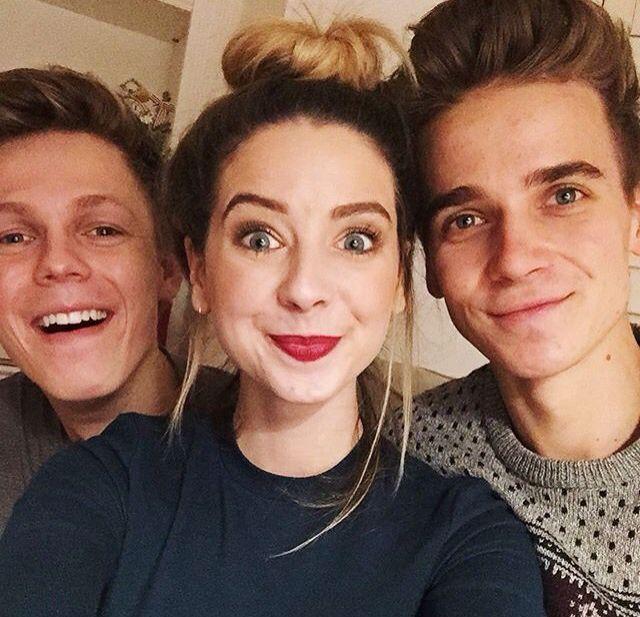 zoella, thatcherjoe and Caspar Lee | pintrest: Random Girl ♡