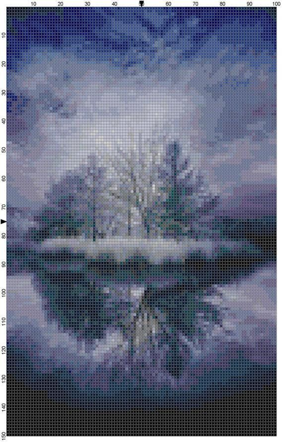 Cross Stitch Pattern Lake Alice Reflection by theelegantstitchery, $10.00