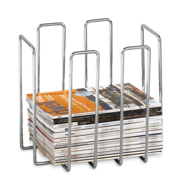 $58.00 When it comes to organization,Plateau stacks magazinesin your favor with this contemporary magazine holder. Chrome plated spindles perfectly cradle magazines and periodicals. The best part? Bindings are in full view for easy access. Inspired modern German design.