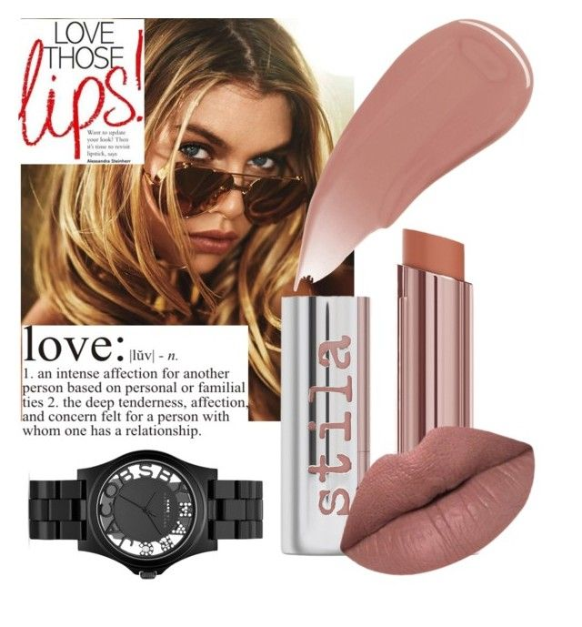 """Nude lips "" by teodorapetre on Polyvore featuring beauty, Stila, Marc Jacobs, LASplash, Burberry and summerlipstick"