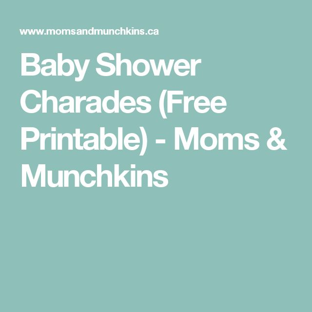 Baby Shower Charades (Free Printable