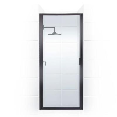 Coastal Shower Doors Paragon Series 25 in. x 69 in. Framed Continuous Hinge Shower Door in Oil Rubbed Bronze with Clear Glass-P25.70ORB-C - The Home Depot