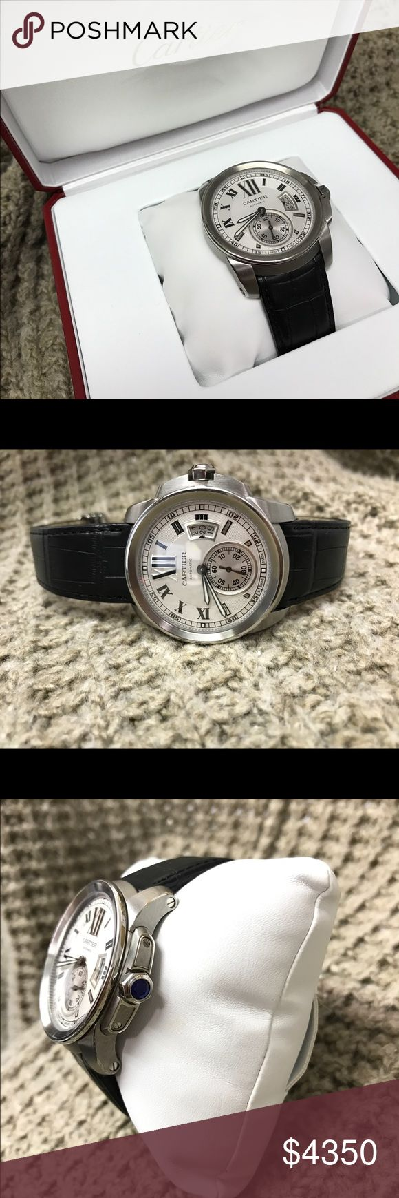Cartier Men's Watch Authentic. Comes with paperwork, & box. Gently Used., please email for information. Chelsea_withrow92@yahoo.com. Serious inquiries only. Cartier Accessories Watches