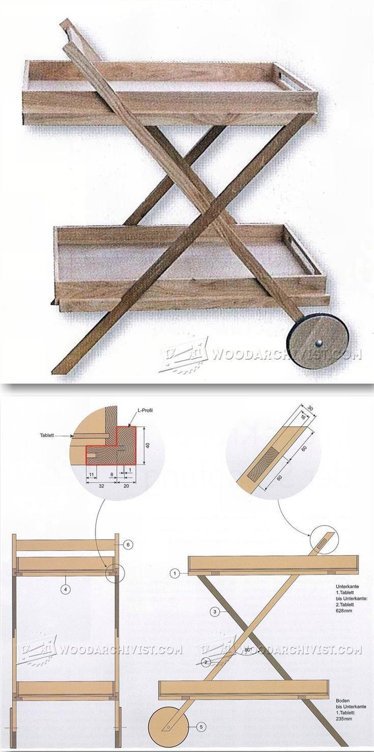Outdoor Serving Cart Plans - Outdoor Furniture Plans & Projects | WoodArchivist.com