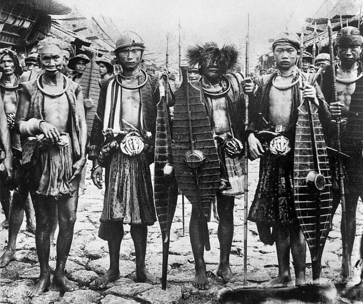 A group of warriors, South Nias. National Museum of World Cultures. Collection number: TM-10002057.