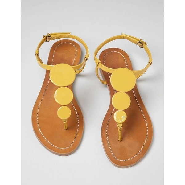 Sixties Sandals ($58) found on Polyvore